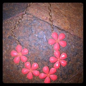 Jewelry - Coral Flower Choker Necklace